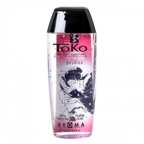 Лубрикант Shunga Toko Aroma со вкусом шампанского и клубники 165 мл