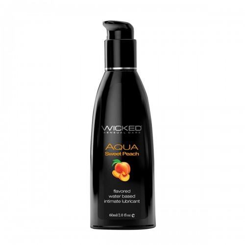 Лубрикант со вкусом спелого персика WICKED AQUA Sweet Peach 60 мл