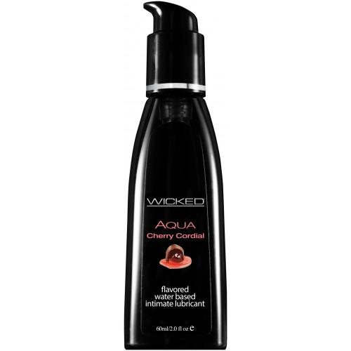 Лубрикант со вкусом вишневого ликера WICKED AQUA Cherry Cordial 60 ml