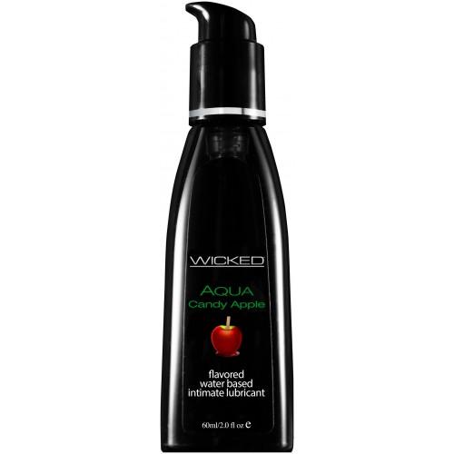 Лубрикант со вкусом сахарного яблока WICKED AQUA Candy Apple 60 мл