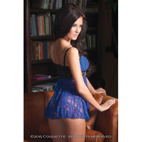 Бэйби-долл и трусики ярко-василькового цвета