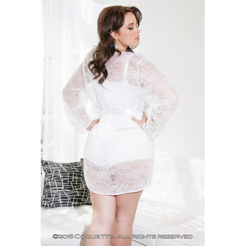 Белый легкий халатик из кружева