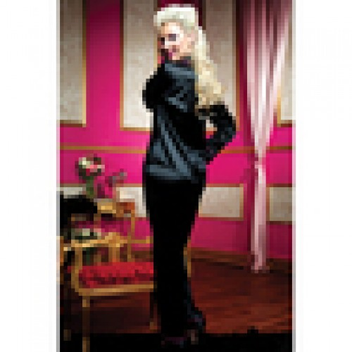 Черная домашняя пижама - рубашка и штаны