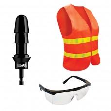 Комплект для секс-дрели DRILLDO - бит, очки, жилет