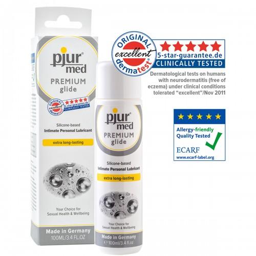 Гипоаллергенный силиконовый лубрикант pjur®MED Premium glide 100 ml
