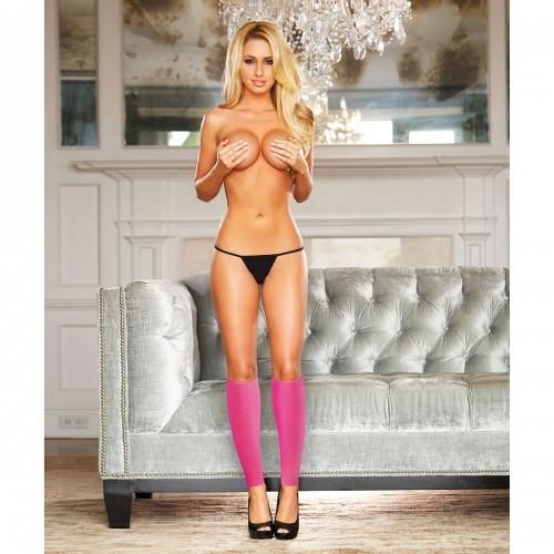Гетры со шнуровкой розовые