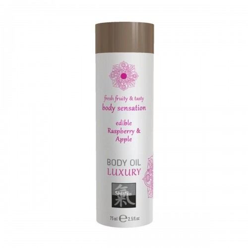 Съедобное масло для тела Luxury body oil - Малина и яблоко 75 мл