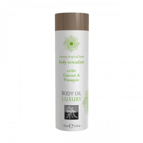 Съедобное масло для тела Luxury body oil - Кокос и ананас 75 мл