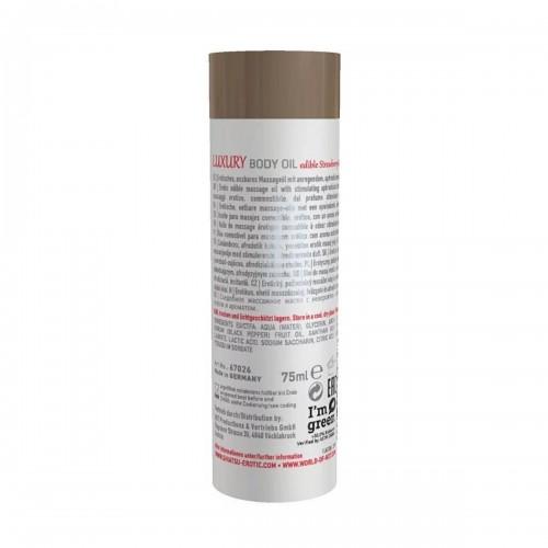 Съедобное масло для тела Luxury body oil - Клубника и красный перец 75 мл