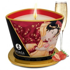 Массажная свеча Shunga Клубничное шампанское 170 мл