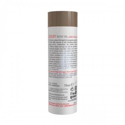 Съедобное масло для тела Luxury body oil - Гибискус и зеленый чай 75 мл