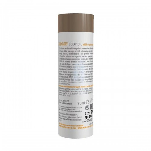 Съедобное масло для тела Luxury body oil - Абрикос и облепиха 75 мл
