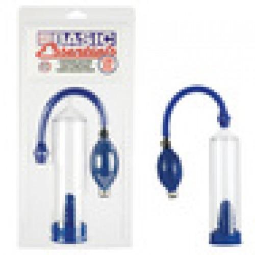 Синяя вакуумная помпа для пениса Basic Essentials