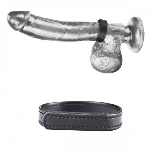 Кольцо на пенис из искусственной кожи на липучке VELCRO COCK RING