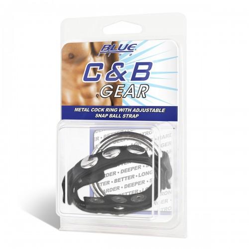 Металлическое кольцо с регулируемым ремешком