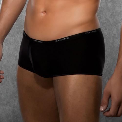 Черные боксеры DOREANSE укороченные на узкой резинке