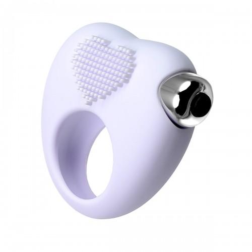 Белое кольцо для продления эрекции с вибрацией JOS Moys