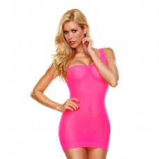 Облегающее розовое мини-платье с бретелью на одно плечо