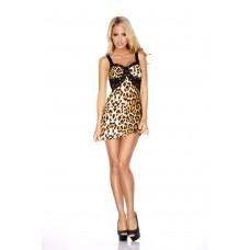 Леопардовое платье с кружевной спиной COVER GIRL