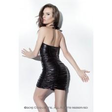 Платье с лаковой вставкой