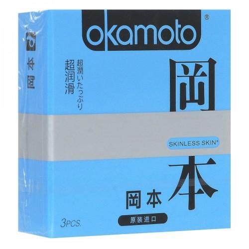 Презервативы OKAMOTO Skinless Skin Super Lubricative №3 с обильной смазкой - 1 уп (3 шт)