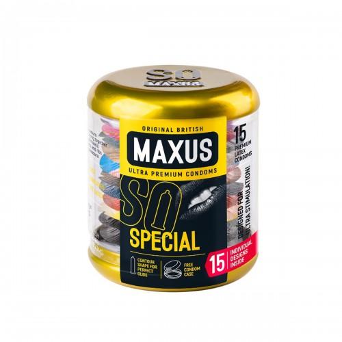 Презервативы точечно-ребристые MAXUS Special №15 в большом кейсе