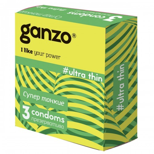 Презервативы GANZO Ultra thin №3 ультратонкие -1 уп (3 шт)