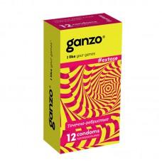 Презервативы GANZO Extase №12 точечные, ребристые, анатомической формы -1 уп (12 шт)