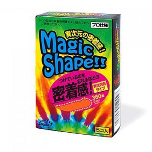Латексные презервативы, плотно прилегающие Sagami №5 Magic Shape