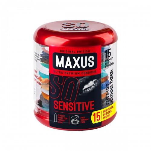 Презервативы ультратонкие MAXUS Sensitive №15 в большом кейсе