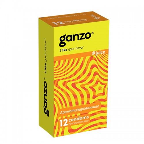 Презервативы GANZO Juice №12 цветные и ароматизированые -1 уп (12 шт)
