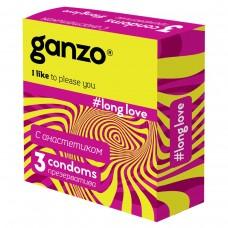 Презервативы GANZO Long love №3 с анестетиком -1 уп (3 шт)