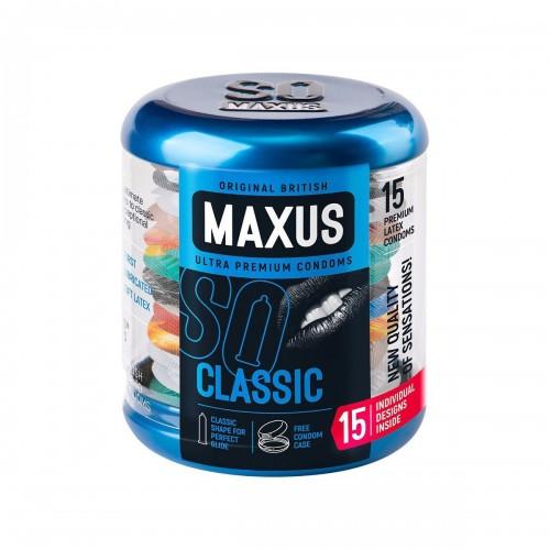 Презервативы классические MAXUS Classic №15 в большом кейсе