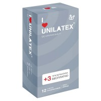 Презервативы с кольцами Unilatex® Ribbed 1 уп (12+3 шт)