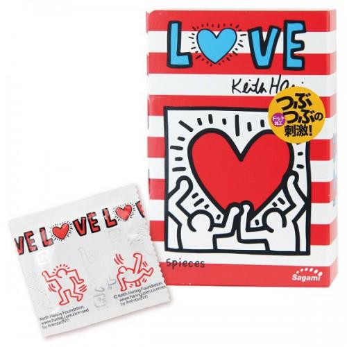 Презервативы Sagami LOVE Keith Haring 12's Pack Latex Condom - 1 уп (12 шт)