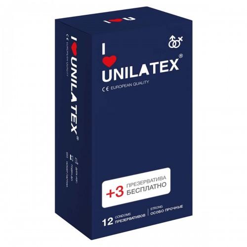 Ультрапрочные презервативы Unilatex® Extra Strong 1 уп (12+3 шт)