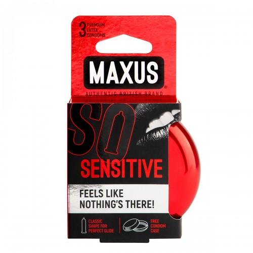 Презервативы в железном кейсе ультратонкие MAXUS Sensitive №3