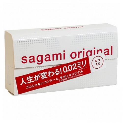 Полиуретановые презервативы №6 Original 0.02 Sagami - 1 уп (6 шт)