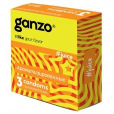 Презервативы GANZO Juice №3 цветные и ароматизированые -1 уп (3 шт)