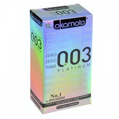 Презервативы OKAMOTO Platinum №10 сверх-тонкие, сверх-чувствительные -1 уп (10 шт)