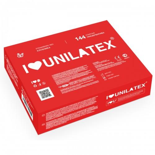 Клубничные презервативы Unilatex® Red Strawberry 1 блок (144 шт)