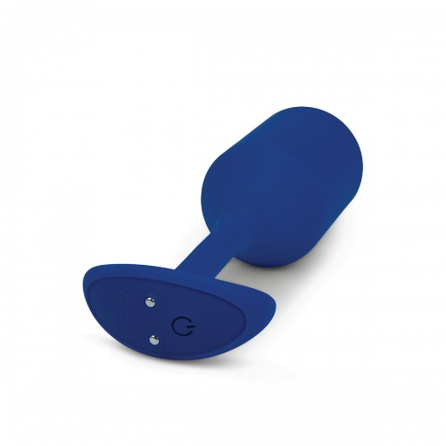 Пробка для ношения с вибрацией синяя B-Vibe Vibrating Snug Plug 4