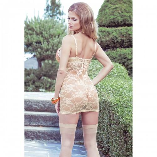 Платье с кружевной спиной и контрастной вставкой TERRACOTTAS
