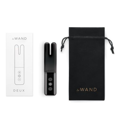 Двухмоторный мини-вибратор Le Wand Deux темный графит