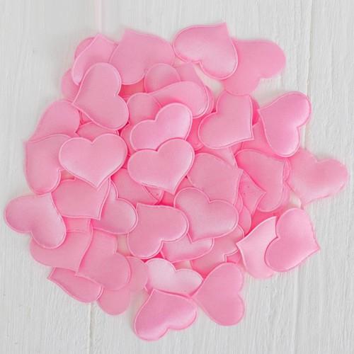 Набор декоративных розовых сердец, 50 шт