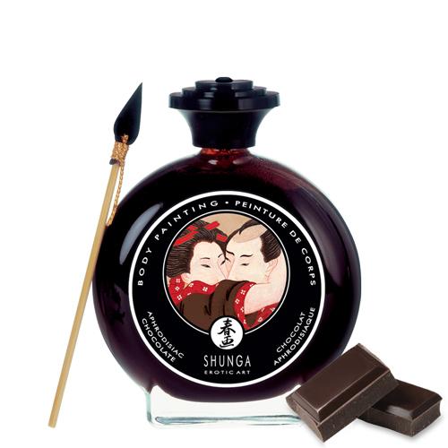 Съедобная краска по телу Shunga Пьянящий шоколад 100 мл